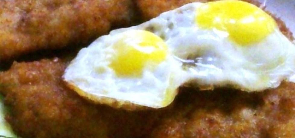 Kotlet schabowy z sadzonym jajkiem przepiórczym (autor: granita ...