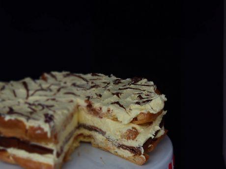 Przepis  tort karpatka z nutellą przepis
