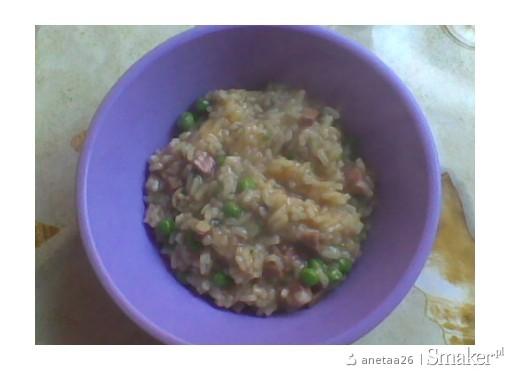 Ryz z groszkiem i pieczarkami