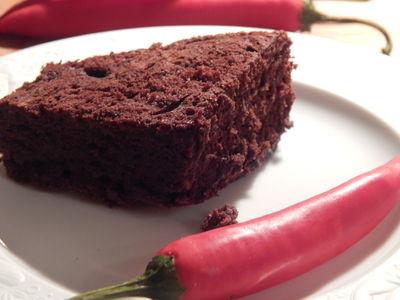 Czekoladowe brownies z chili i koniakiem