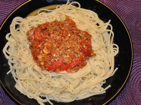 Przepis  bardzo ostre spaghetti przepis