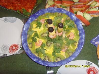 Sałatka z owocami morza