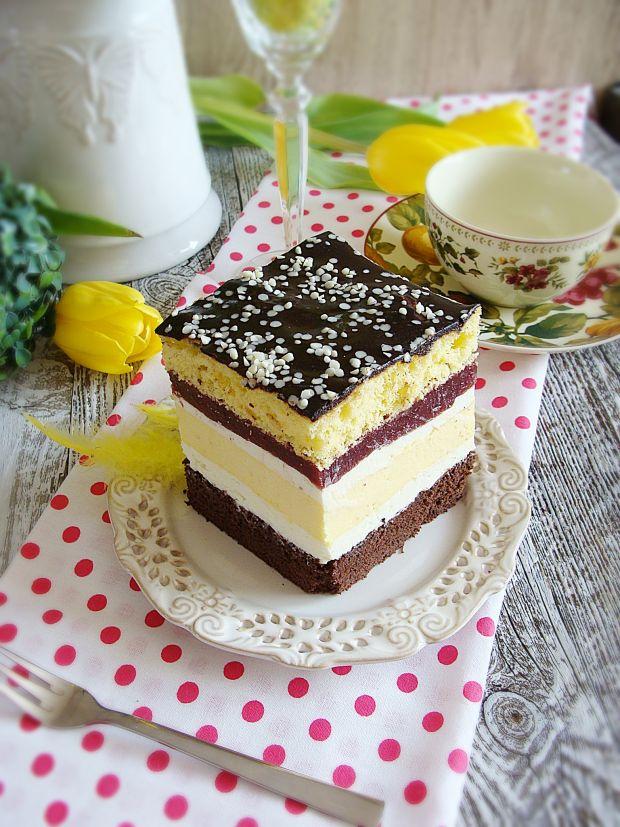 Przepis  ciasto serowo-wiśniowe przepis