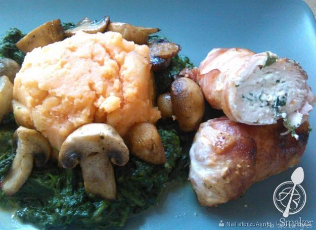 Roladki z kurczaka nadziewane serem ricotta