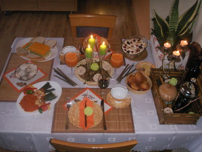 Ellegancka kolacja wegetariańska w klimacie natury
