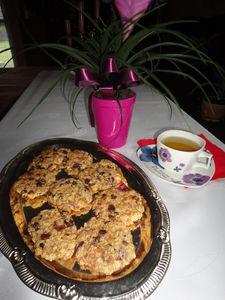 Ciasteczka owsiane z musli tropikalnym,rodzynkami i żurawiną ...