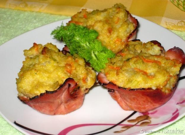 Muffinkowo-ryżowe sakiewki z fenkułem.