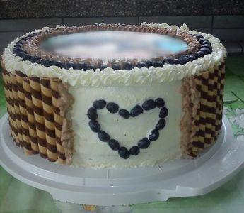 Tort milky way z borówkami