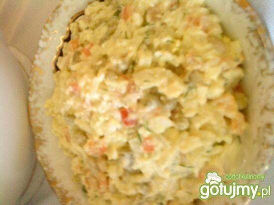 Przepis  sałatka warzywna z dodatkiem ryżu przepis