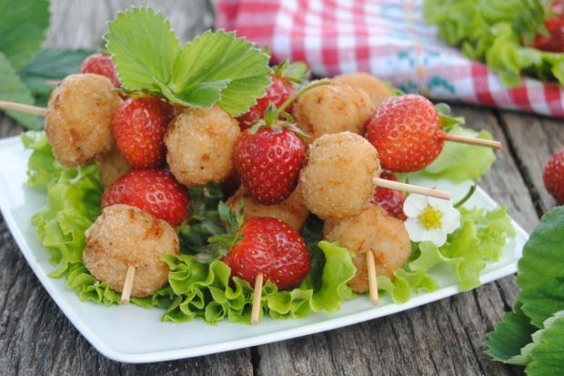 Przepis  szaszłyki drobiowo-truskawkowe przepis