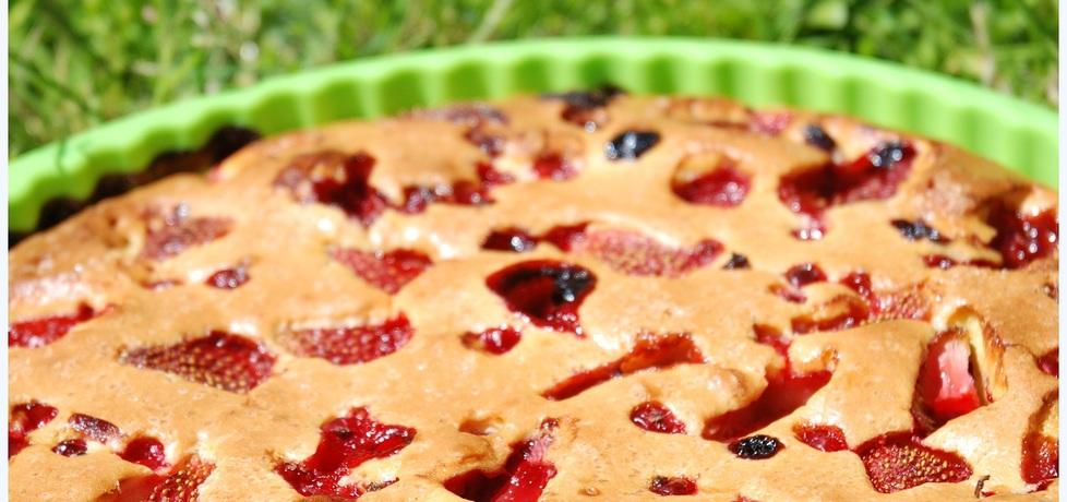 Ciasto z owocami i polewą mascarpone (autor: trufelek ...