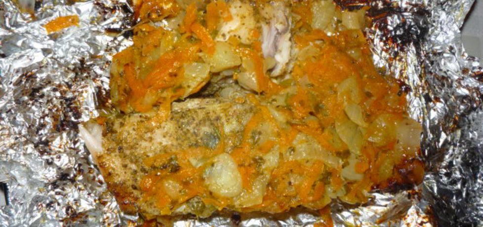 Sandacz w warzywach na grillu (autor: owocowka)