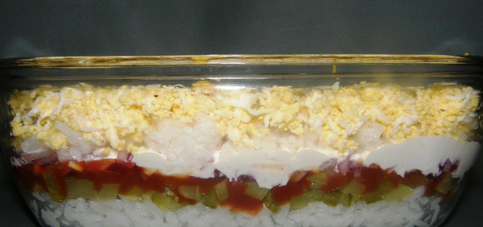 Wielowarstwowa sałatka ryżowa (autor: dorotapati197799 ...