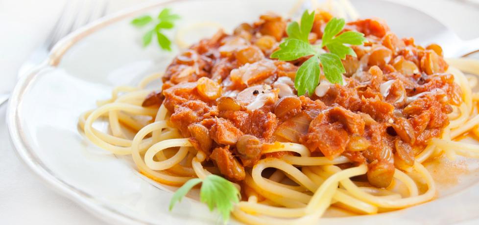 Spaghetti z tuńczykiem i soczewicą zieloną (autor: agata