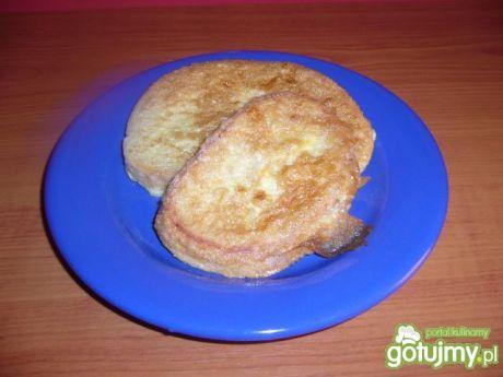 Przepis  chleb w jajku z patelni przepis