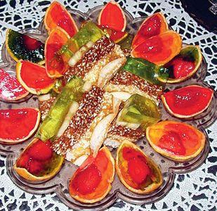 Deser w pomarańczy