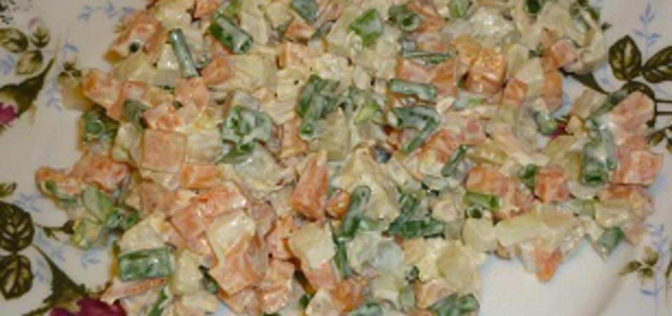 Sałatka z wędzonym łososiem (autor: wafelek2601 ...