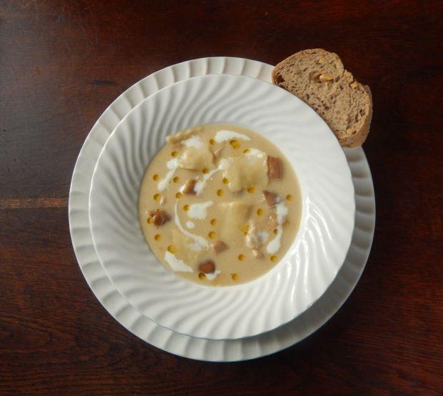 Przepis  zupa borowikowa z łazankami przepis