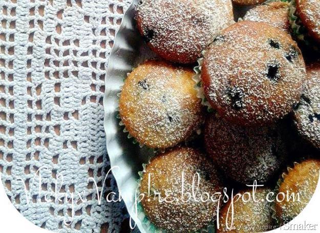 Wegańśkie muffiny z jagodami