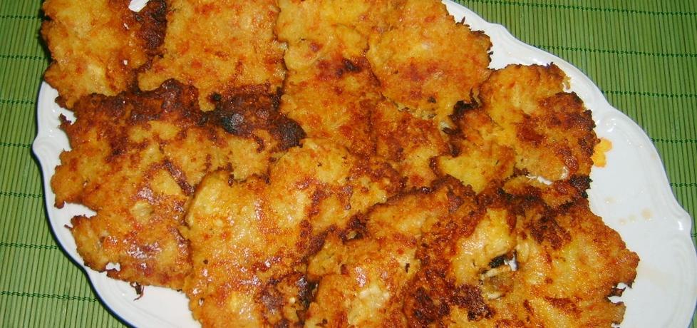 Placki ziemniaczane z serem,cebulą,pomidorami suszonymi... (autor ...