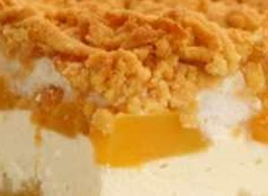 Sernik z brzoskwiniami  prosty przepis i składniki