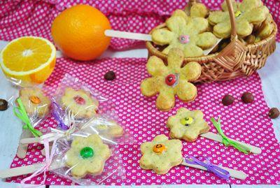 Pomarańczowe ciasteczka z serem i orzechami