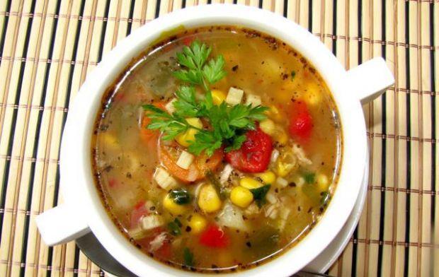 Przepis  zupa meksykańska z kurczakiem przepis