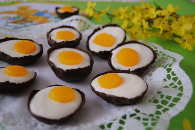 Jajeczka na wielkanoc- czekoladowo