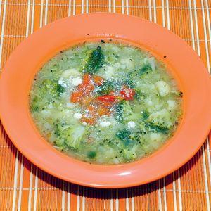 Zupa zielona z parmezanem