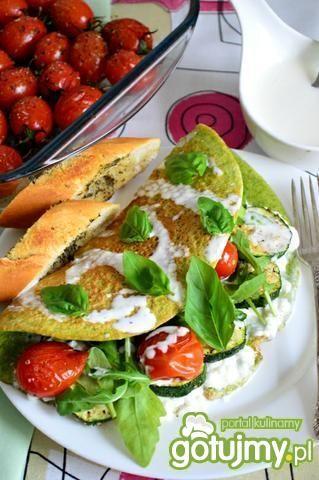 Przepis  zielony omlet z warzywami przepis