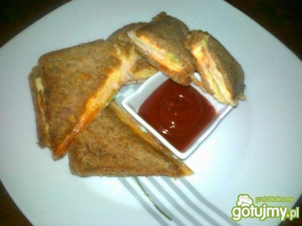 Przepis  razowe pikantne tosty przepis