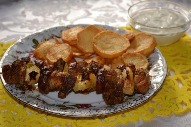 Przepis  szaszłyki wieprzowe z piekarnika przepis
