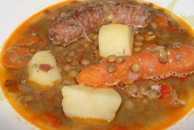 Przepis  zupa z soczewicy z jamon serrano przepis