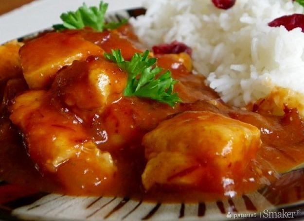 Kurczak w sosie żurawinowym