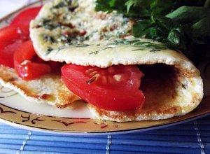 Omlet zielony, czyli z natką pietruszki usmażony