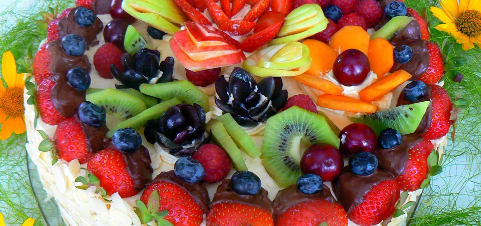 Tort kuszenie lata z owocami (autor: mysza75)
