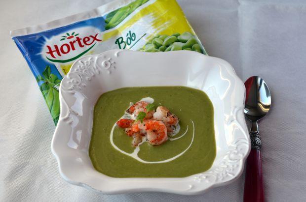 Przepis  hortex zupa krem z bobu z krewetkami przepis