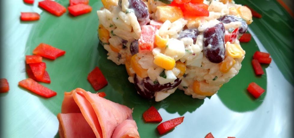 Sałatka ryżowa z czerwoną fasolą i kukurydzą (autor: jejkuchnia ...
