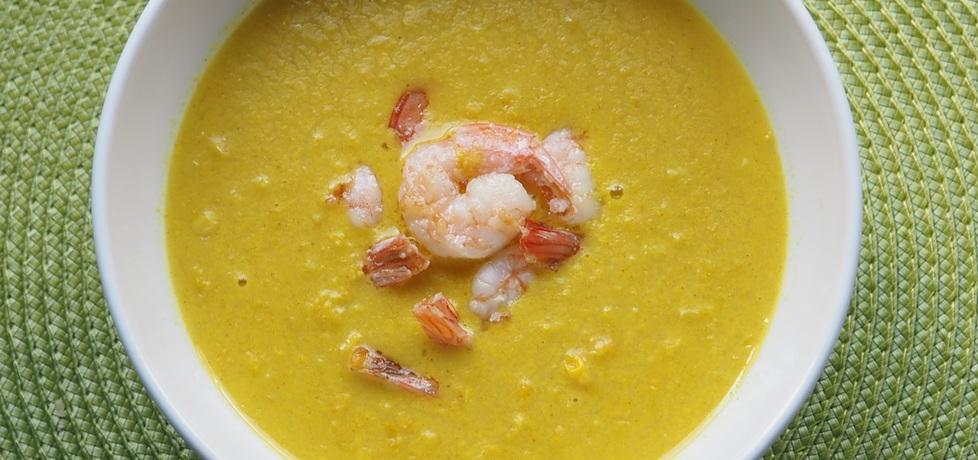 Zupa z kukurydzy z mleczkiem kokosowym i krewetkami (autor ...
