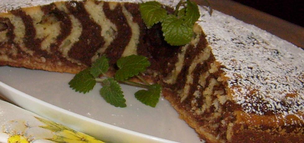 Ciasto zebra kakaowo