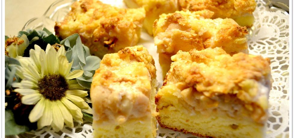 Ciasto serowe z jabłkami w piance z kruszonką (autor: christopher ...