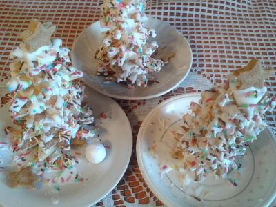 Choinka z kruchych ciasteczek maślanych