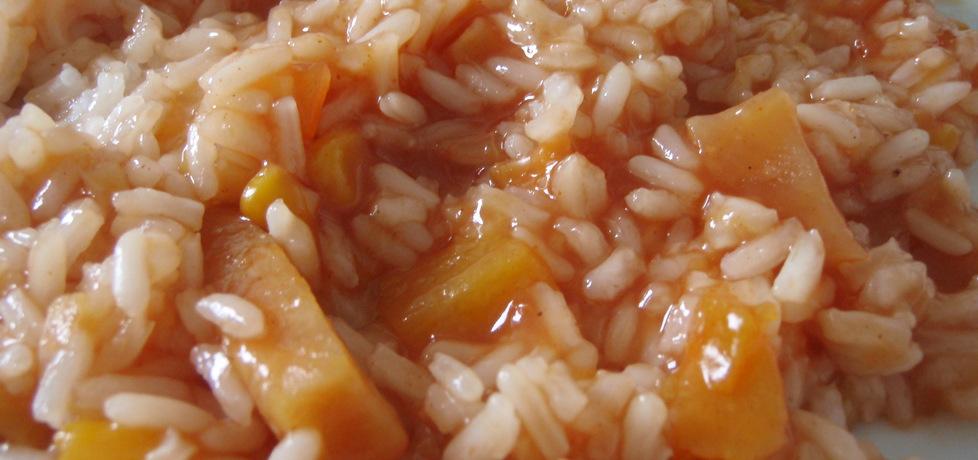 Ryż z sosem słodko