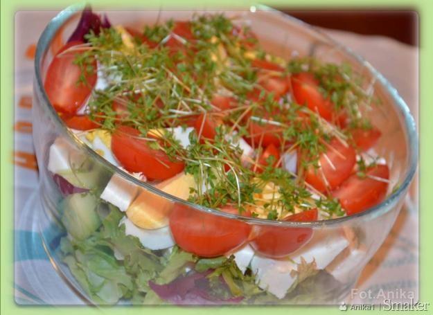 Wiosenna sałatka z rzeżuchą