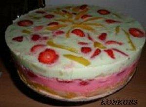Tęczowe ciasto bez pieczenia  prosty przepis i składniki