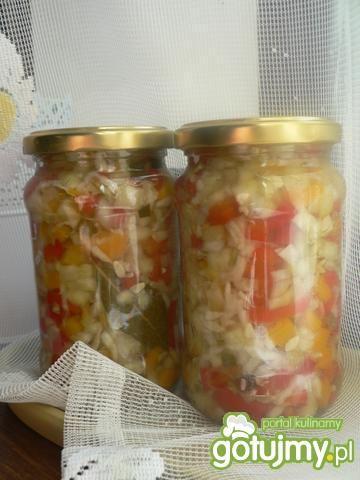 Przepis  sałatka na zime warzywna przepis