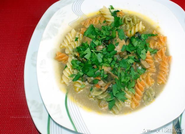 Trochę inna zupa pieczarkowa