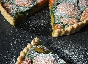 Tarta pistacjowa z morelami  prosty przepis i składniki