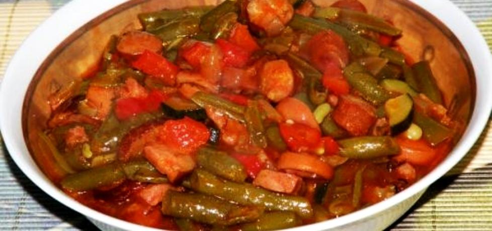 Fasolka szparagowa z kiełbasą, papryką i pomidorami (autor: habibi ...