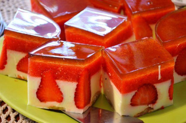 Przepis  sernik na zimno z truskawkami przepis